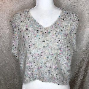 525 America White Multi Sweater Vest Size Medium
